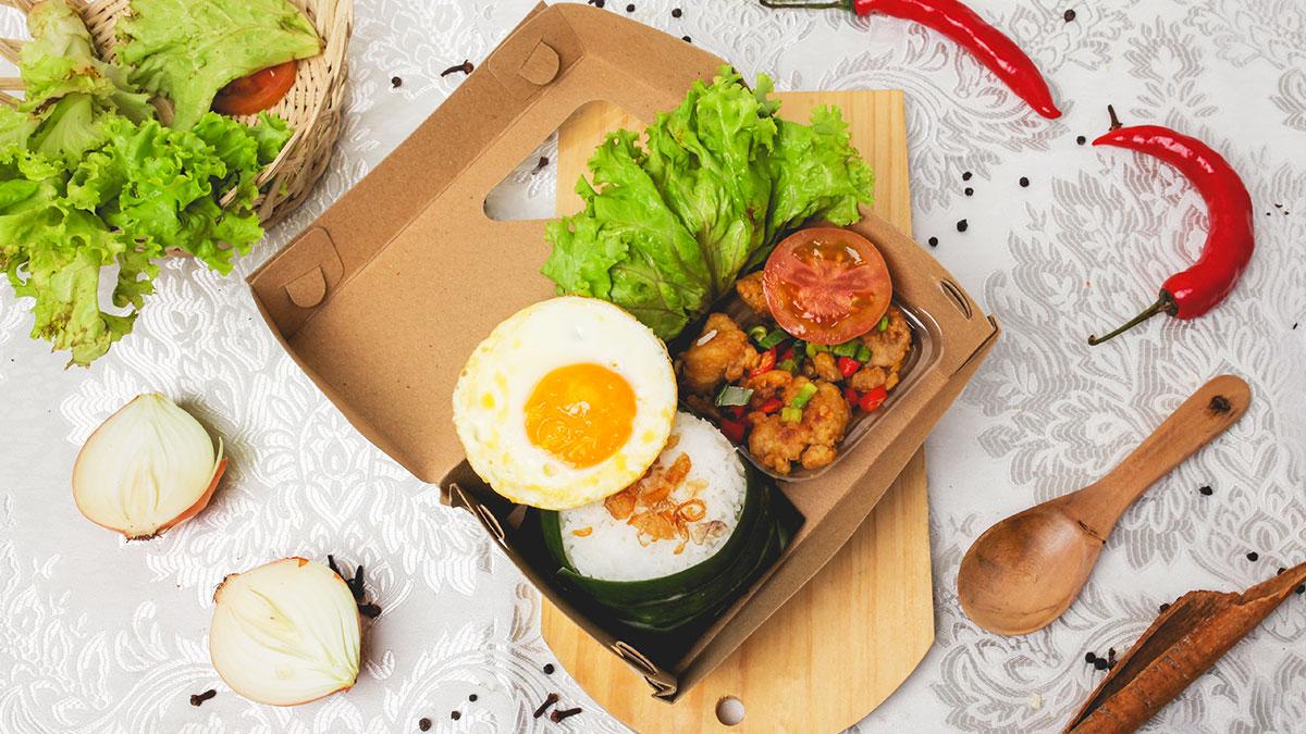 Rice Box Ayam Telur Asin Topping Telur Ceplok