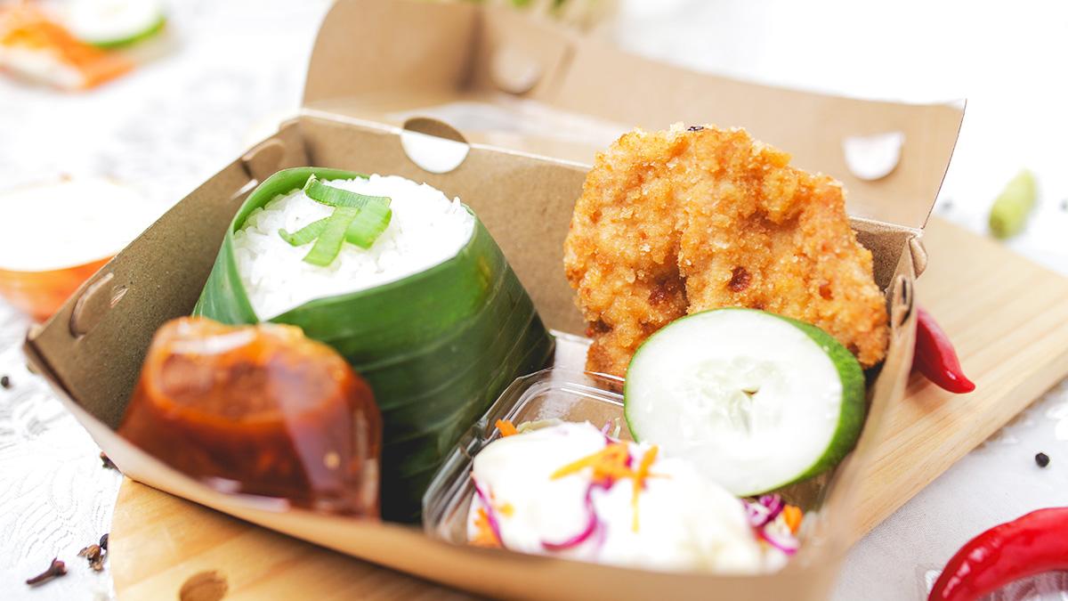 Nasi Chicken Katsu + Salad Saos Putih